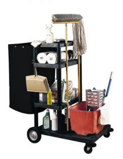 Four-Shelf Janitorial Cleaning Cart