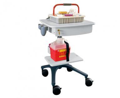Compact Mobile Phlebotomy Cart or Dialysis Cart with Accessories