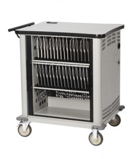 Mobile Tablet Cabinet Stores, Charges, and Syncs up to 32 iPads