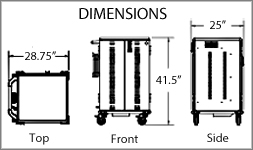 Anthro Chromebook cart dimensions
