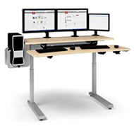 AnthroCart Elevate II Adjusta Stand-Up Desk