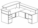 L-Shaped Reception Desk Diagram