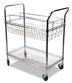 wire mailroom cart 2