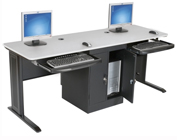 computer training table grey