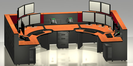 Rugged Sit Stand Operator Console Furniture And Dispatch