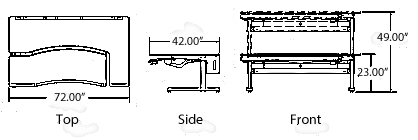 height adjustable workstation dimensions