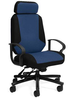 high back intensive use chair