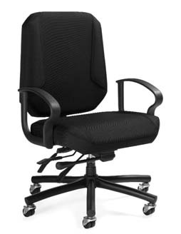 medium back intensive use chair