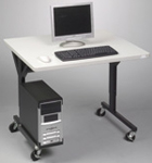 mobile computer training tables - alternate view