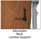 patient chair adjustable lumbar support