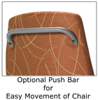patient chair optional push bar