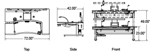 radiology furniture dimensions
