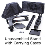 trade show monitor stand with cases