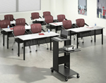 u-shaped training tables - rectangular section