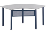 u-shaped training tables - crescent