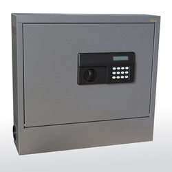 Wall Mount Laptop Safe Closed Showing Keypad