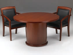 Round Conference Tables with Real Wood Finishes (Choice of Sizes and Colors)