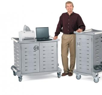 Locking Mobile Laptop Storage Cart for Transport, Security and Charging