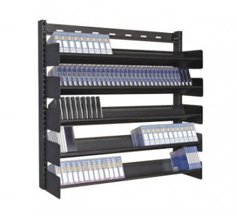 Steel Wall Mount Media Storage Rack