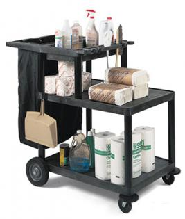 Three-Shelf Housekeeping Cart