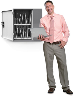 Anthro YESMLCGMPW Laptop Cabinet Stores and Charges Up To 12 Mini-Laptops