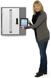 Anthro YESCABGMPW iPad Storage Cabinet Holds up to 20 Tablets and Other Hand-Helds