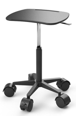 Adjustable Height Standing Laptop Cart with Anti-Microbial Surface